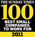 SundayTimesBestSmallCompaniesToWorkFor2011