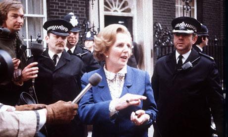 Margaret Thatcher outside 10 Downing Streetin 1979.