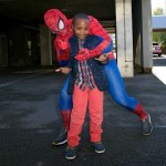 Spiderman meets boy