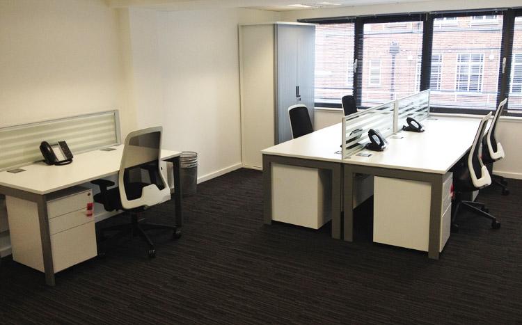 Minories 6th Floor 5 Man Office + Meeting Table