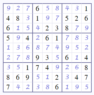 Coffee Break Answers - Sudoku