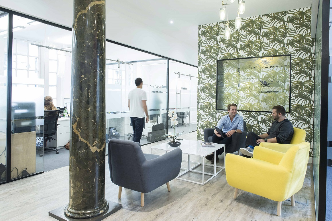 Headspace reception Hatton Garden Farringdon Coworking