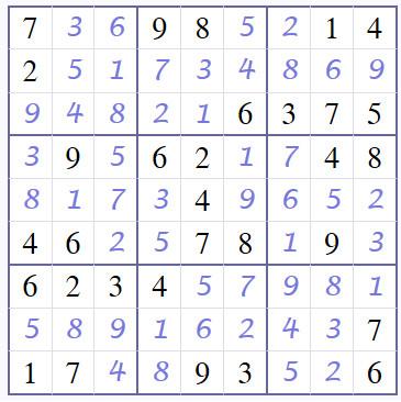 Coffee break answers page Sudoku