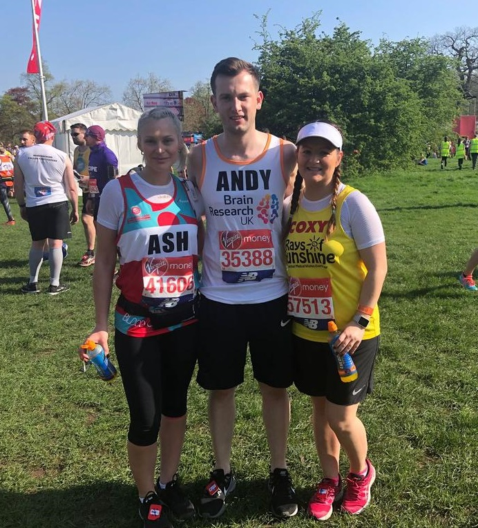 Rays of Sunshine, Leukaemia Care UK and Brain Research Trust benefit from BE Offices and &Meetings runners'