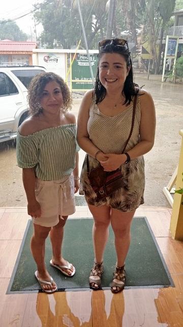 Caught in torrential rain in Mayan