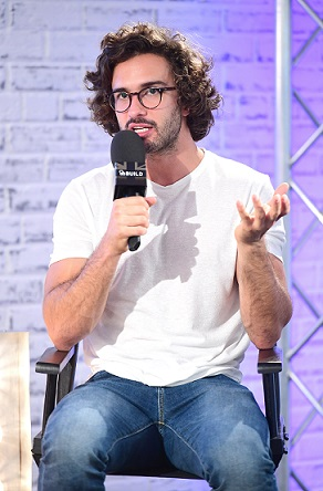Joe Wicks speaking at an AOL BUILD series London event at AOL's Capper Street in London.
